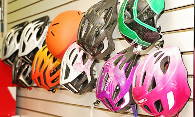 our helmet selection is excellent