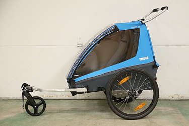 A trailer lets you bring little ones along for the ride.